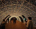 tunnel luci artista salerno