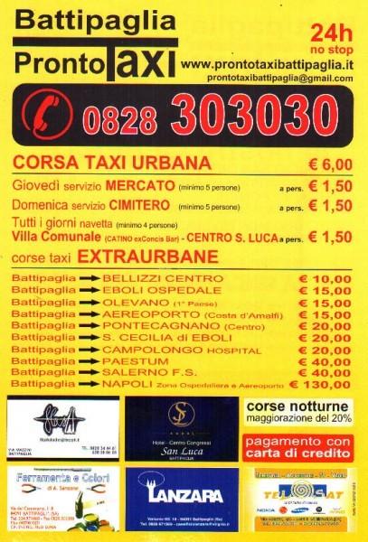 volantino prezzi taxi battipaglia